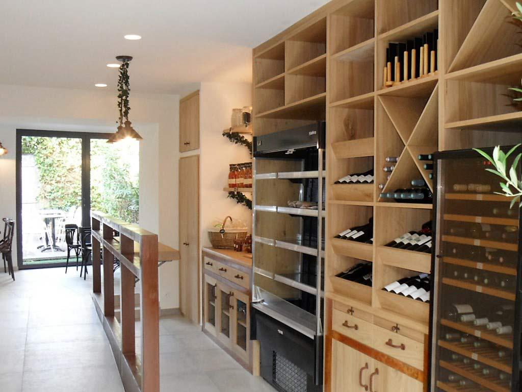 casiers d'épicerie en bois