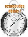 délais respectés